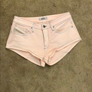 Diesel pink jean shorts